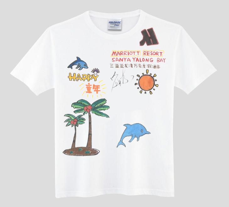 刘涛亲手签名儿童手绘t恤衫+《新旅行》7月刊