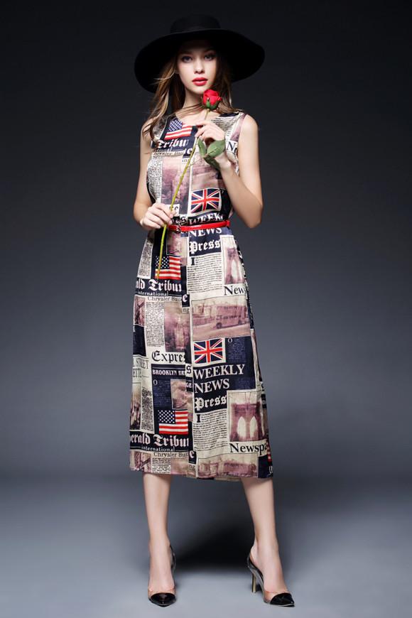 连衣裙欧美时尚
