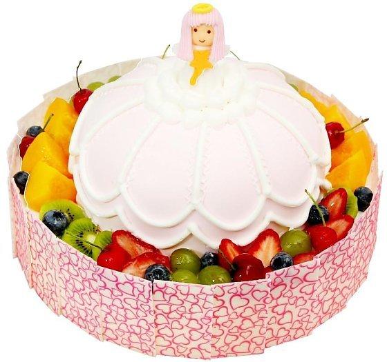 可爱的公主造型生日蛋糕
