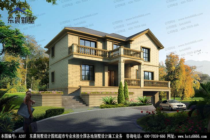 新农村别墅设计方案-09 174平 (内附详细效果图,施工设计图等)