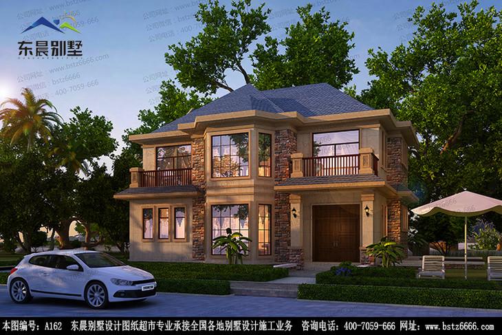 【东晨a162】二层带三露台自建房别墅设计建筑施工