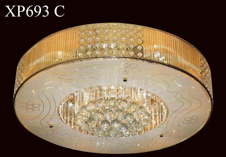 led贴片 金色水晶灯 波浪花朵 圆型