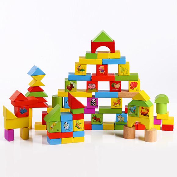 积木玩具 100粒动物园桶装 包邮