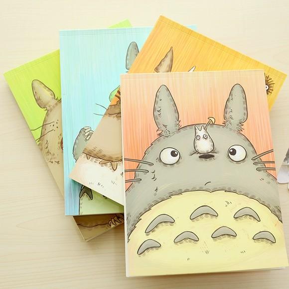 三年二班●可爱宫崎骏空白本 卡通素描绘画本笔记本记事日记本子
