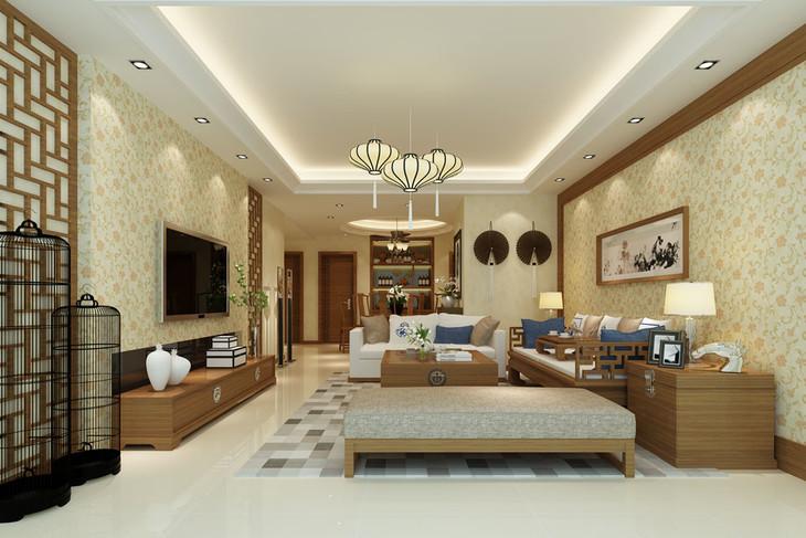 新中式 无纺布 华盛顿系列壁纸 客厅卧室搭配款图片