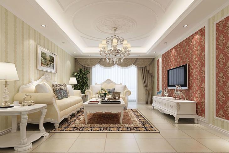 简约欧式 高发泡无纺布 唐顿庄园系列壁纸 客厅辅搭配