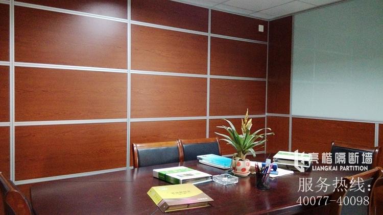 亮楷隔断墙办公室防火木板高隔双层钢化玻璃带百叶屏风铝合金隔墙