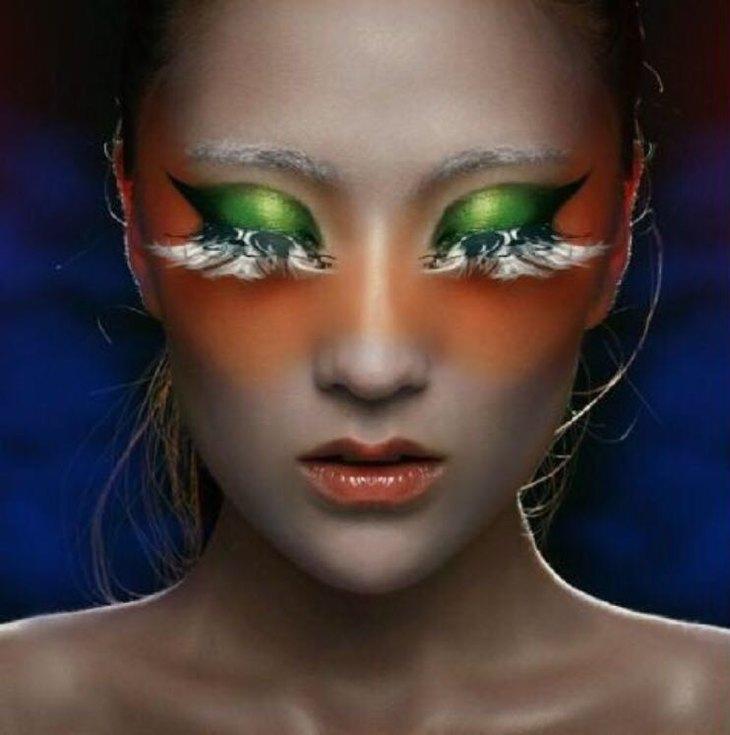 时尚创意妆:个性,另类,视觉冲击力强,造型可以根据客户不同的需求图片