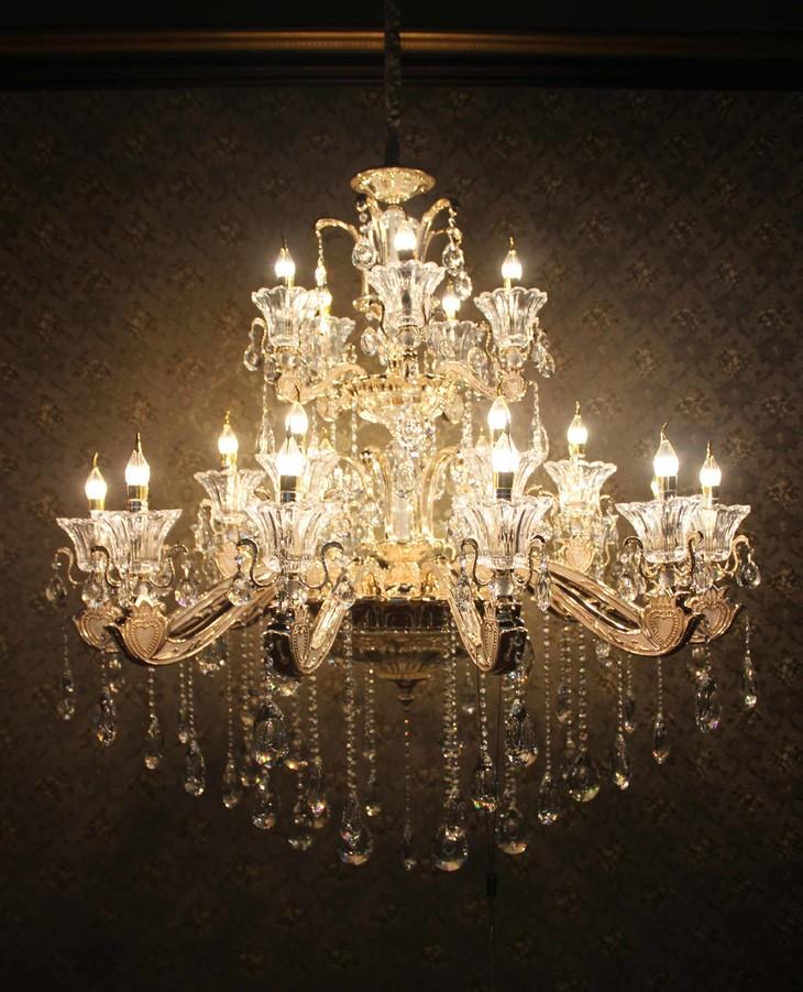 金邦仕欧式水晶蜡烛吊灯