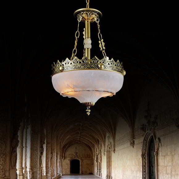 单头欧式经典复古防铜吊灯家居楼道走廊灯具餐厅酒吧造型灯饰
