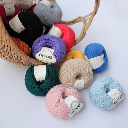【云柔】新款美丽诺羊毛真丝混纺进口中粗手编毛线编织人生出品50克/团 商品图2