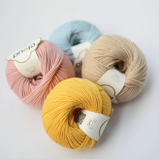 【云柔】新款美丽诺羊毛真丝混纺进口中粗手编毛线编织人生出品50克/团 商品图3