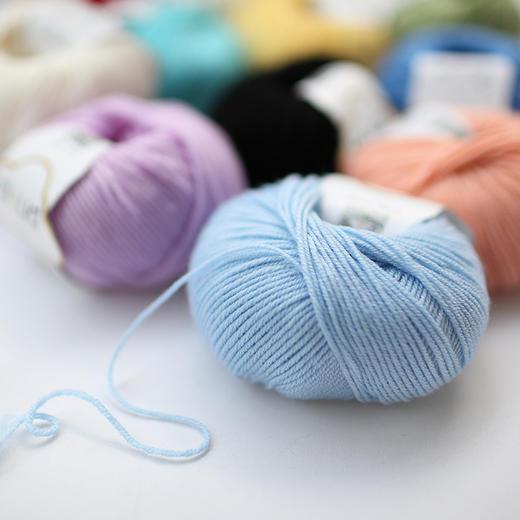 【云宝宝】美丽诺手编羊毛线宝宝毛线 儿童编织毛衣线手工钩编线 30克/团 商品图2