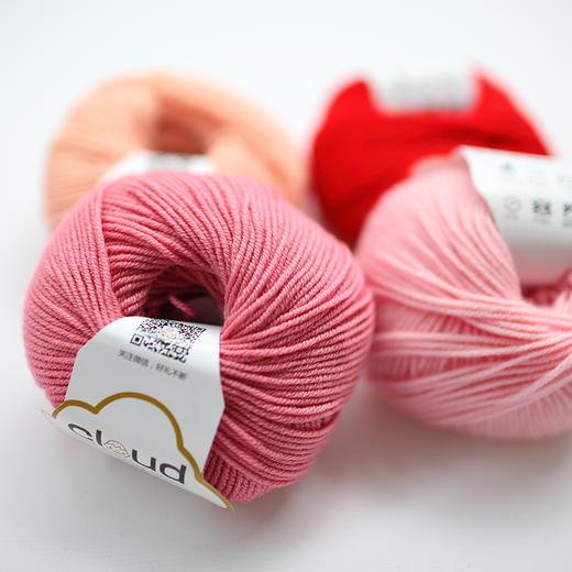 【云宝宝】美丽诺手编羊毛线宝宝毛线 儿童编织毛衣线手工钩编线 30克/团 商品图4